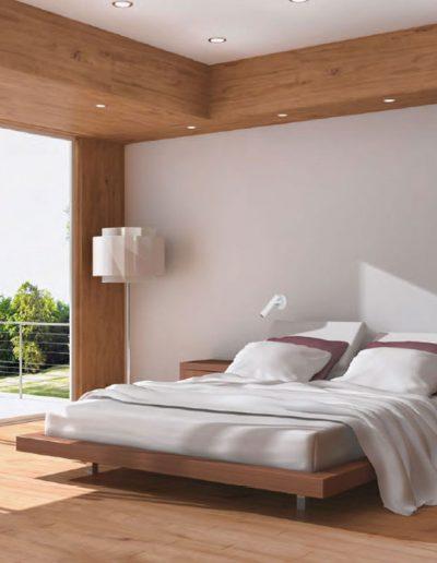 LED svetila v spalnici