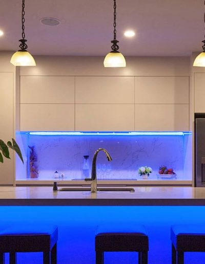 LED luči v kuhinji