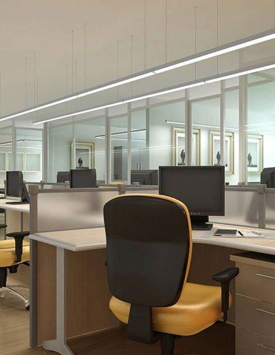 LED svetila v pisarni