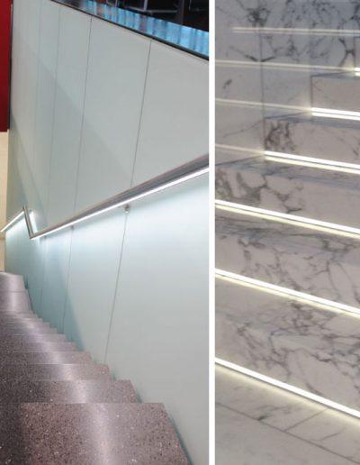 Led osvetlitev stopnišča
