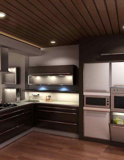 LED svetila v kuhinji